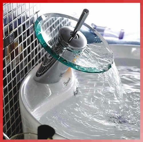 Griferia Para Baño En Mercado Libre: Plato De Cristal Monomando, Grifería – U$S 75,00 en Mercado Libre